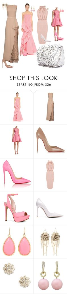 Floral Raffia Baguette by ruchehues on Polyvore featuring Marchesa, Elie Saab, Zuhair Murad, Christian Louboutin, ALDO, Gianvito Rossi, Kate Spade, Bebe and Sole Society