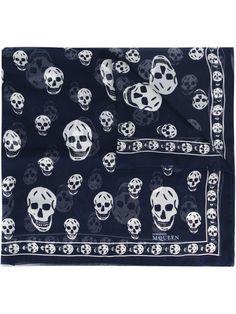 Alexander Mcqueen Black Skull-print Silk Chiffon Scarf In 1078 Black Alexander Mcqueen Skull Scarf, Mode Cool, Skull Design, Skull Print, Pashmina Scarf, Couture, Black, Picture Icon, Bandanas