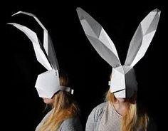 Image result for white rabbit mask to make                                                                                                                                                                                 More