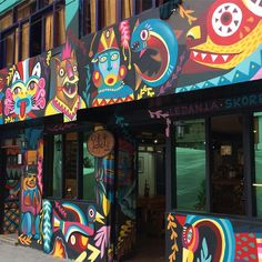Super Tramp cafe! Love this mural!!