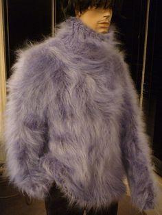 MOHAIRKITTEN COLONIAL BLUE Turtleneck Mohair Sweater | eBay Angora Sweater, Turtleneck, Heavenly, Colonial, Fur Coat, Dreams, Wool, Knitting, Sweaters