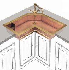 Retro Brass Sink Of True Vintage Material And Looks | DigsDigs