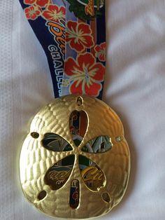 California OC marathon Beach Cities Challenge medal - 2016 bling photos - half marathon medal photos by Fifty States Half Marathon Club members www.50stateshalfmarathonclub.com