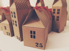 DIY Advent Calendar Houses Kit by Headintclouds on Etsy