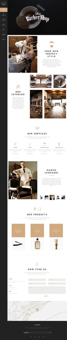 BarberShop - One Page HTML Template by nrgthemes on Creative Market