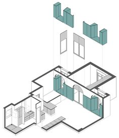 Adding Unit. Storage. minimum change Flatmate Apartment by Nook Architects