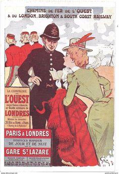 Grun Postcard - Pubblicitaria - Chemin De Fer - Pubblicitari