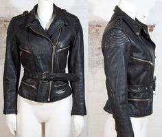 Vintage ladies 1990's punk rock cropped leather by AltGirlVintage