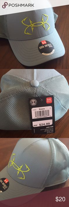 Under Armor Hat- Women's cute cute Women's Heat Gear hat.  New with tags!!  Perfect for summer! Make me an offer!! Under Armour Accessories Hats