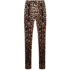 Dolce & Gabbana Leopard Print Trousers (€940) ❤ liked on Polyvore featuring pants, dolce gabbana pants, leopard pants, leopard print pants and dolce gabbana trousers