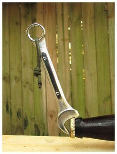 manly bottle opener.
