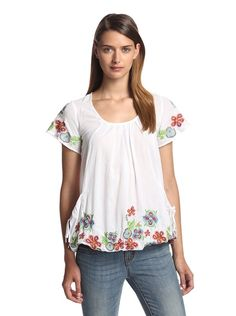 Desigual Embroidered Top http://amzn.to/2dCKFqa