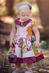 Persnickety Baby - Into The Woods Josephine Dress in Pink
