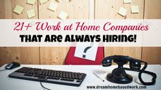 List of 21  Companies That Hire Frequently For Work At Home