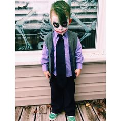 """43 Likes, 4 Comments - Jessica Saylor (@saylormoon) on Instagram: """"Voted scariest costume in the children's costume contest #arlo #thejoker #halloween2015…"""""""