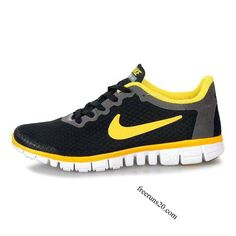 Nike Free 3.0 V2 Mens Shoes Black White Yellow $55.90. Why are these only for men??!!