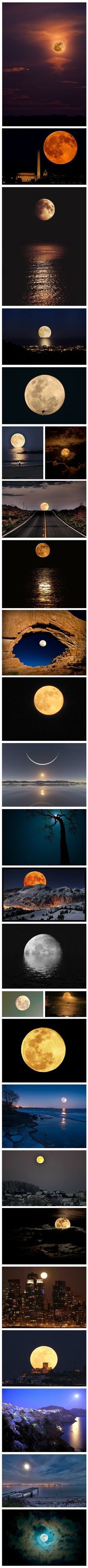 A collection of the best moon images? I have seen one at the end of a road before but it looked much larger. Wish I had my camera then..