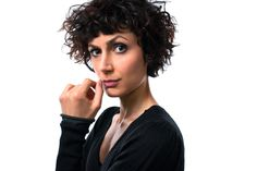 Eleni Molos - italian actress  - portrait by Paolo Corradeghini