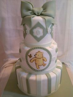 My son's nursery was Classic Pooh! Would love to have had this cake for baby shower.