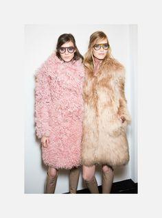 hautekills:  Kati Nescher and Suvi Koponen at Gucci f/w 2014 backstage