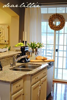 this would be your kitchen doors with window treatments
