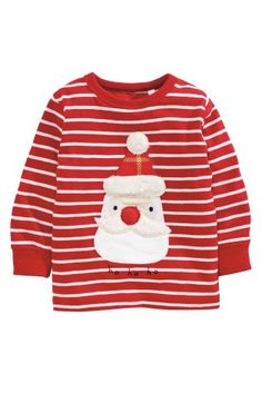 Buy Red Stripe Long Sleeve Santa Christmas T-Shirt (3mths-6yrs) online today at Next: Rep. of Ireland