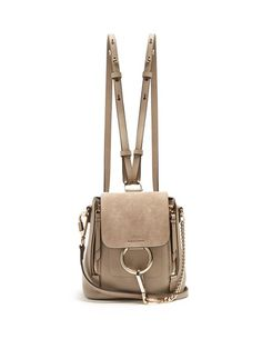 46c55fae4dca Chloé Faye suede and leather mini backpack Chloe Faye Small