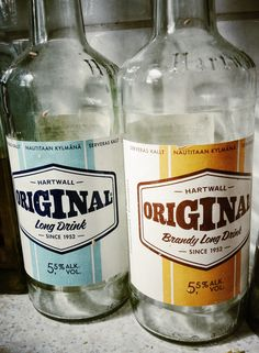 Vintage models (remade now of Hartwall's Long Drink bottles. Long Drink, Poland Springs, Vintage Models, Drink Bottles, Product Design, Water Bottle, Drinks, Food, Drinking