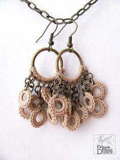 The Naturals - crochet cotton fiber textile earrings | Flickr - Photo Sharing!