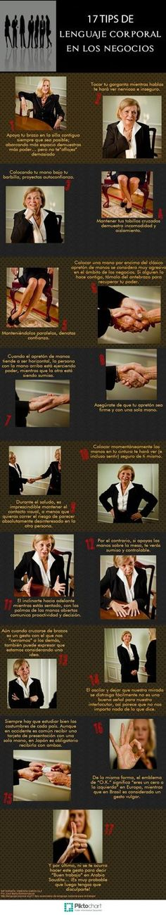17 tips de lenguaje corporal en los negocios.