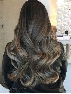 Ash brunette hair