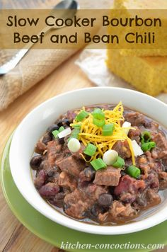 Slow Cooker Bourbon Beef and Bean Chili {Plus 6 Tips to Amp Up Your Chili} #sponsored #recipe #dinner #slowcooker