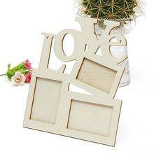 New Lovely Hollow Love Wooden Family Photo Picture Frame Rahmen White Base Art Home Decor free shipping(China (Mainland))