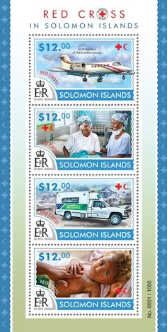 Post stamp Solomon Islands SLM 15317 aRed Cross in Solomon Islands (Air Ambulance of the Solomon Islands, Ambulance of the Solomon Islands)