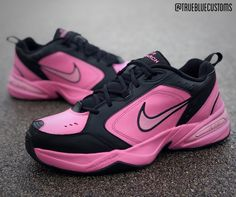 The 50 Best Nike Air Monarch Customs - 'Comme des Garcons' by True Blue Customs Vans Sneakers, Air Max Sneakers, Nike Air Monarch, Dad Shoes, Blue C, Tom S, Behind The Scenes, Nike Air Max, Tommy Hilfiger