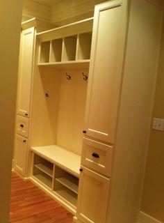Maverick Custom Homes, built in, shoe rack, coat rack ...