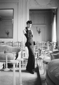 Christian Dior house model Renee - Photographs by Mark Shaw - Dior Glamour