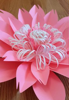 SVG pdf Paper flower template SVG cut file Paper flower DIY