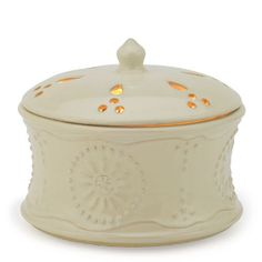WC04/TUSCAN/AIRE Cream Candle Aire Fragrance Warmer - Candle Warmers