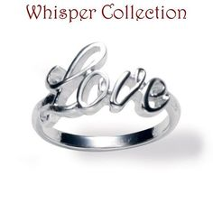 FOREVER selected by Paula Abdul Timeless Inspiration LOVE Silver Ring. Starting at $1