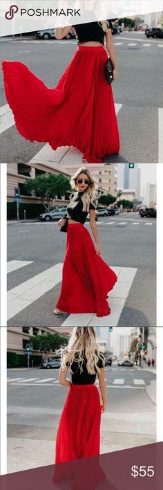 b8a1bc5725 Zara Maroon Satin pleated maxi skirt Maroon/burgundy/dark red color Satin pleated  maxi