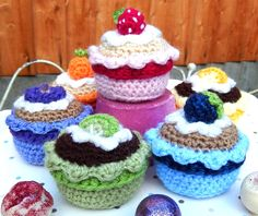 I made this free and fruity cupcake pattern to celebrate my birthday. I hope you like it! Please click the buttons below to download the pattern.