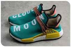 f2f5726481dd1 Pharrell x adidas NMD Boost Race Hu Trail Sun Glow Core Black-EQT Yellow  AC7188