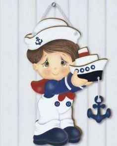riscos de bebes marinheiro para pintura em tecido | Deco Madeira Litoarte DM-068…