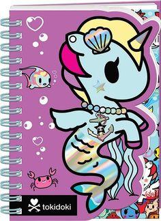 Tokidoki Mermicorno A6 Die Cut Notebook