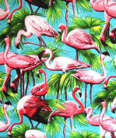 tropical pattern with flamingos and palm trees Flamingo Pattern, Tropical Pattern, Flamingo Print, Pink Flamingos, Flamingo Fabric, Flamingo Wallpaper, Flamingo Party, Funky Wallpaper, Flamingo Painting