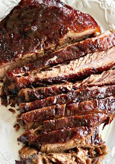 Tender Oven Cooked Barbecue Brisket - The Foodie Affair