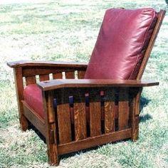 Gustav Stickley Style Drop Arm Morris Chair