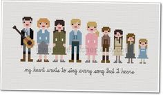 Pixel People  The Sound of Music  PDF by weelittlestitches on Etsy, $8.00
