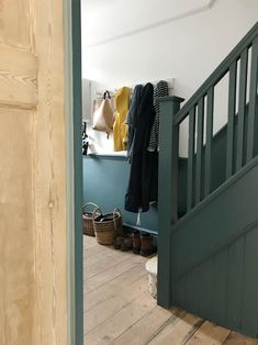 Home Interior Diy Our unfinished hallway and need for storage Apartment Apothecary Blue Hallway, Hallway Paint, Hallway Colours, Dado Rail Hallway, Dado Rail Living Room, Victorian Hallway, Victorian Terrace, 1930s Hallway, Home Renovation